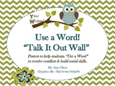 Use a Word ~ Talk It Out Board for Conflict Resolution