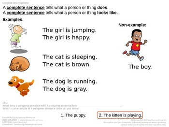 Use a Complete Sentence When Speaking