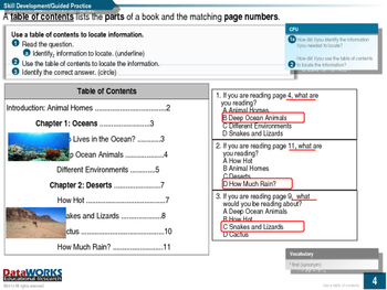 Use a Table of Contents to Locate Information