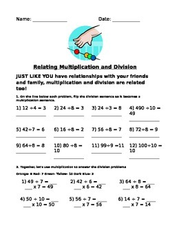 Use bracelet making to relate multiplication and division