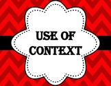Use context to determine the meaning of a word