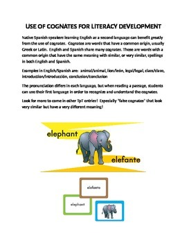 Use of Cognates for Literacy Development