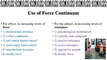 Use of Force Notes for Law Enforcement