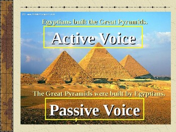 Use of the passive voice