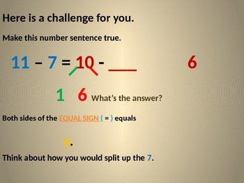 Use ten to subtract