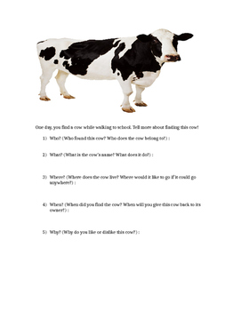Use the 5 W's to Describe a Cow