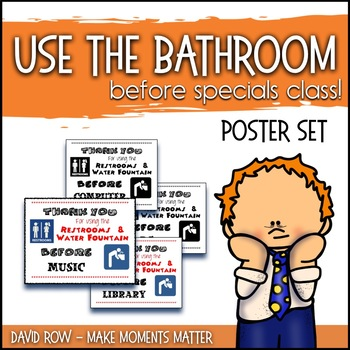 Bathroom Reminder Posters For Music Art Library PE Specials Teachers