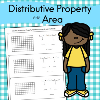 Use the Distributive Property to find the area of each rectangle