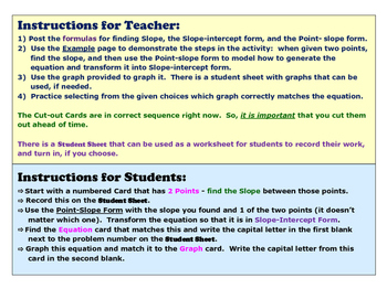 Use the Point-Slope form on a Linear Equation with Posters