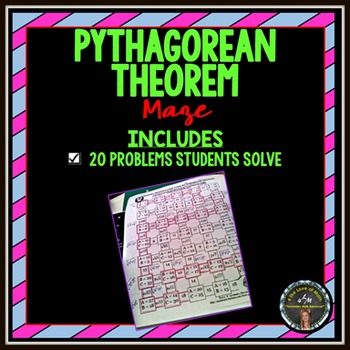 Use the Pythagorean Theorem to Find the Missing Length: Maze (CC 8.G.8)