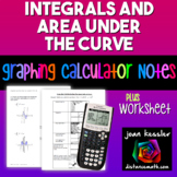 Calculus: Use the TI 83/84 to graphically find and shade the Area Under a Curve