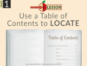 Use the Table of Contents to Location Information