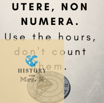 Use the hours, don't count them MOTIVATIONAL POSTER Digital Download