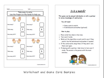 Use visual representation of numbers to assist with subtraction