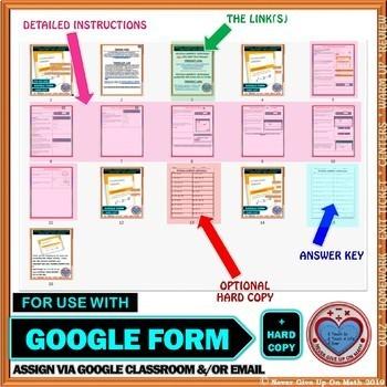 Use with Google Form: Factoring Quadratic Expressions Quiz/HW