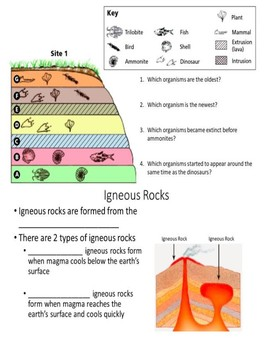 Rock Dating: Law of Superposition guided notes.