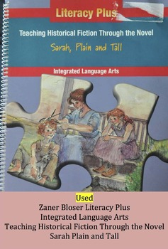 Used  Zaner Bloser Guide for Novel Sarah Plain and Tall