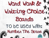 Use with Number The Stars : UDL Word & Writing/Representing (Print and Easel)