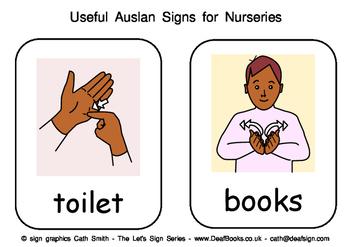 Useful Auslan Signs for Nurseries (Australian Sign Language)