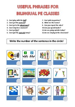 Useful Bilingual PE Phrases