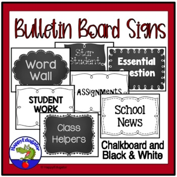 Bulletin Board Signs - First Week of School