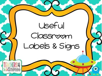 Useful Classroom Labels & Signs