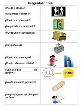 Useful Classroom Questions (Preguntas útiles para la clase)