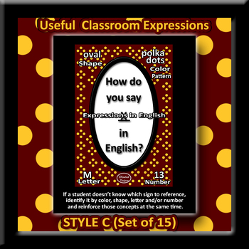 Useful English Expressions for Class Posters - Style C