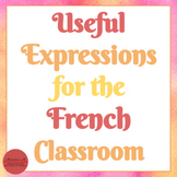 Useful Expressions for the French Classroom [Vocabulaire de la salle de classe]