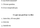 Useful French Classroom Phrases for Beginning Students