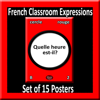 Useful French Expressions for Class Posters - Style A