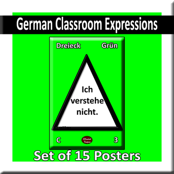 Useful German Expressions for Class Posters - Style A