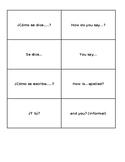 Useful Introductory Spanish Vocabulary