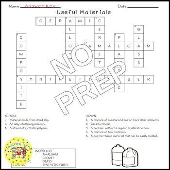 Useful Materials Crossword Puzzle