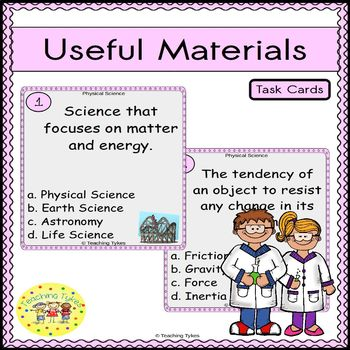 Useful Materials Task Cards