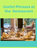 Useful Phrases At A Restaurant, E-book and Flashcards
