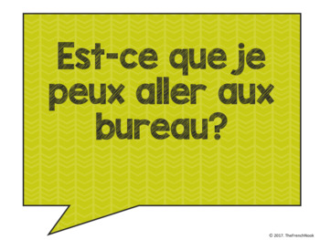 Useful Phrases for the French Classroom Posters