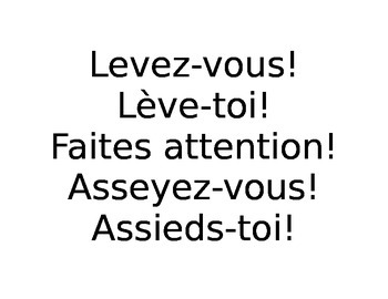 Useful Phrases in the French Classroom