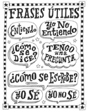 Frases en español ~Frases ~Spanish poster ~worksheet ~word wall Bulletin board