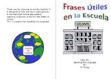 Useful Spanish Phrases, Frases Utiles en la Escuela, Print