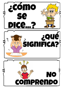 Useful Spanish Phrases Signs with English & Student Handouts