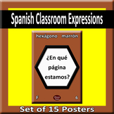 Useful Spanish expressions for class Posters- Profile A
