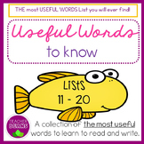 Useful Words To Know Lists 11 to 20
