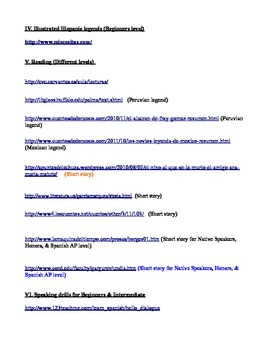 Useful websites for Spanish class