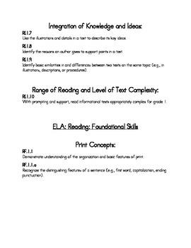 User Friendly CCSS Grade 1 - ELA and Math