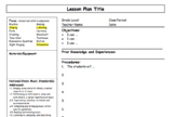 User-Friendly Lesson Plan Template