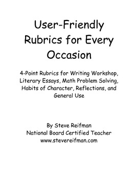 User-Friendly Rubrics for Every Occasion