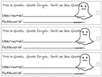 Username & Password Bookmark - ghost