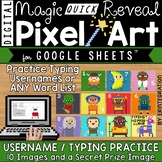 Username Typing Practice on Google Sheets with Digital Pixel Art Magic Reveal