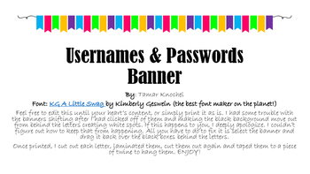 Usernames & Passwords Banner - PDF